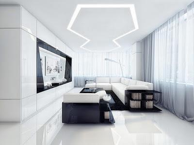 Pemilihan Warna Dinding Dan Pemilihan Lampu Yang Tidak Terlalu Kontras Untuk Ruang Tamu Yang Kecil Adalah Ide Yang Terbaik Untuk Mencantikkan Ruang Ini